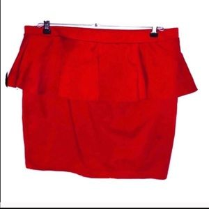 ♦️ Xl candies skirt red with ruffles